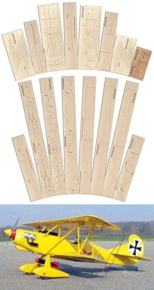 Der Jager D.IX - Laser Cut Wood Pack