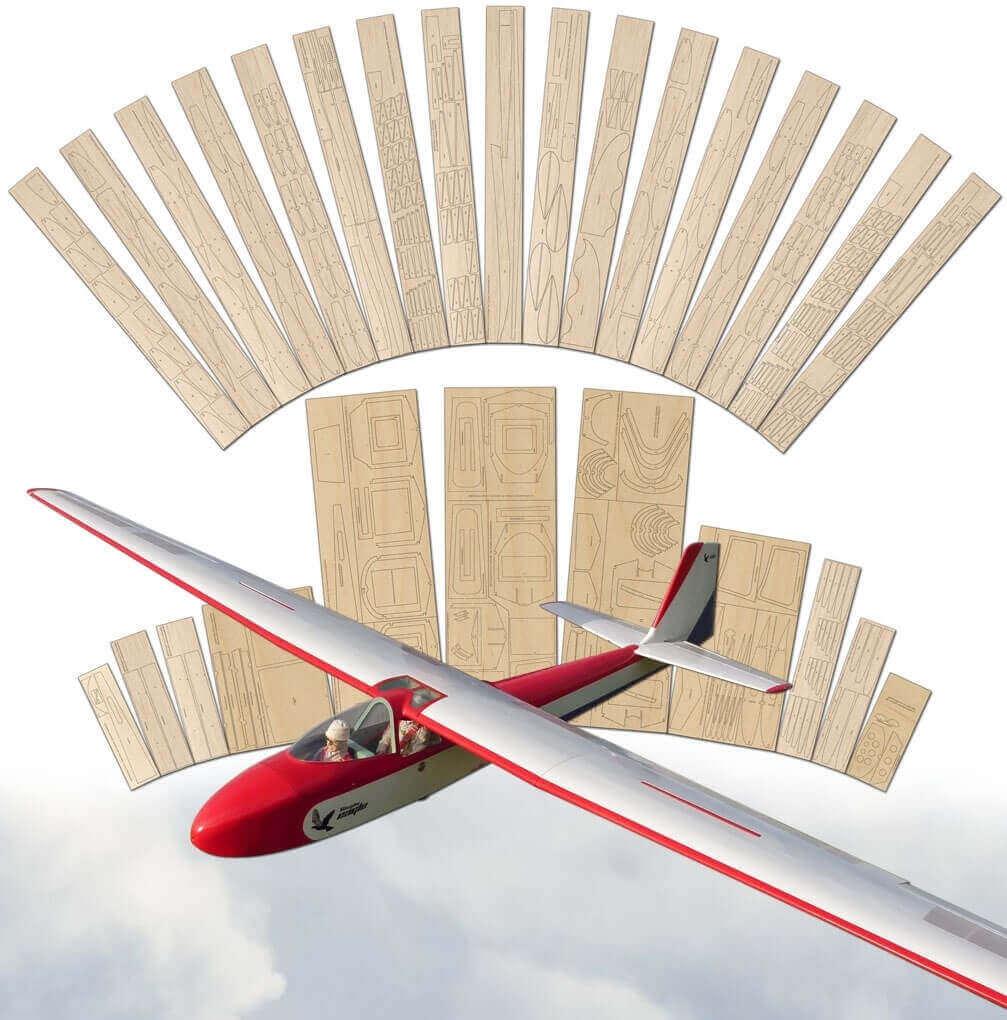 Slingsby T42 Eagle - Laser Cut Wood Pack
