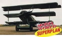 """Fokker Dr.1 Triplane (47"""") Plan"""