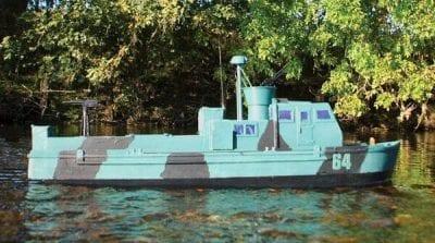 Fast River Patrol Boat