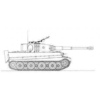 ML119 Panzerkampfwagen Tiger Ausf E with Snorkel
