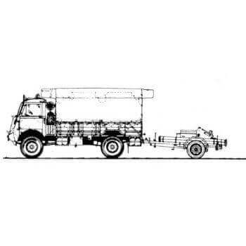 ML153 Bedford Ql Army Fire Service Tender with Dennis Trailer Pump