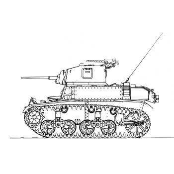 ML108 Light Tank M3A1 'General Stuart' III and IV
