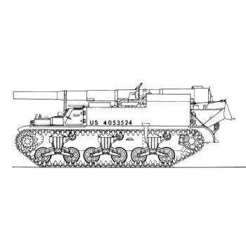 ML106 155mm Gun Motor Carriage M .12 ' King Kong '