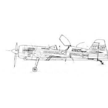 Sukhoi SU-26 MX Line Drawing 3099