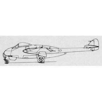 De Havilland Vampire Line Drawing 3113