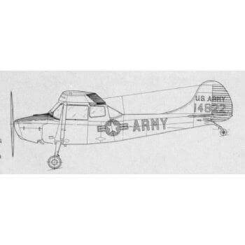 Cessna 0-1A Bird Dog Line Drawing 3109