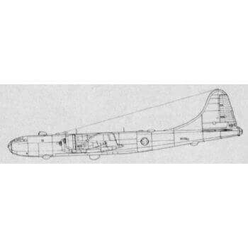 Boeing B-29 Superfortress Line Drawing 3115