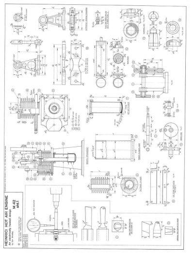 M 42 Heinrici Hot Air Engine