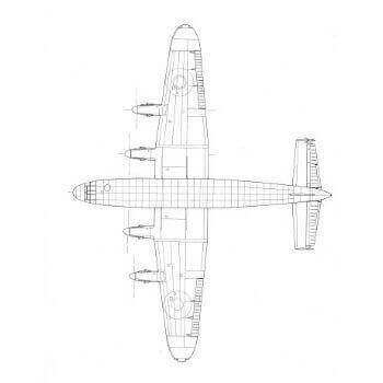 Avro York Line Drawing 3116