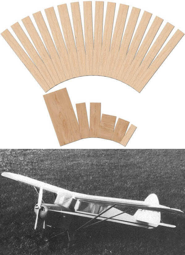 Piper Vagabond - set including lasercut woodpack and plan