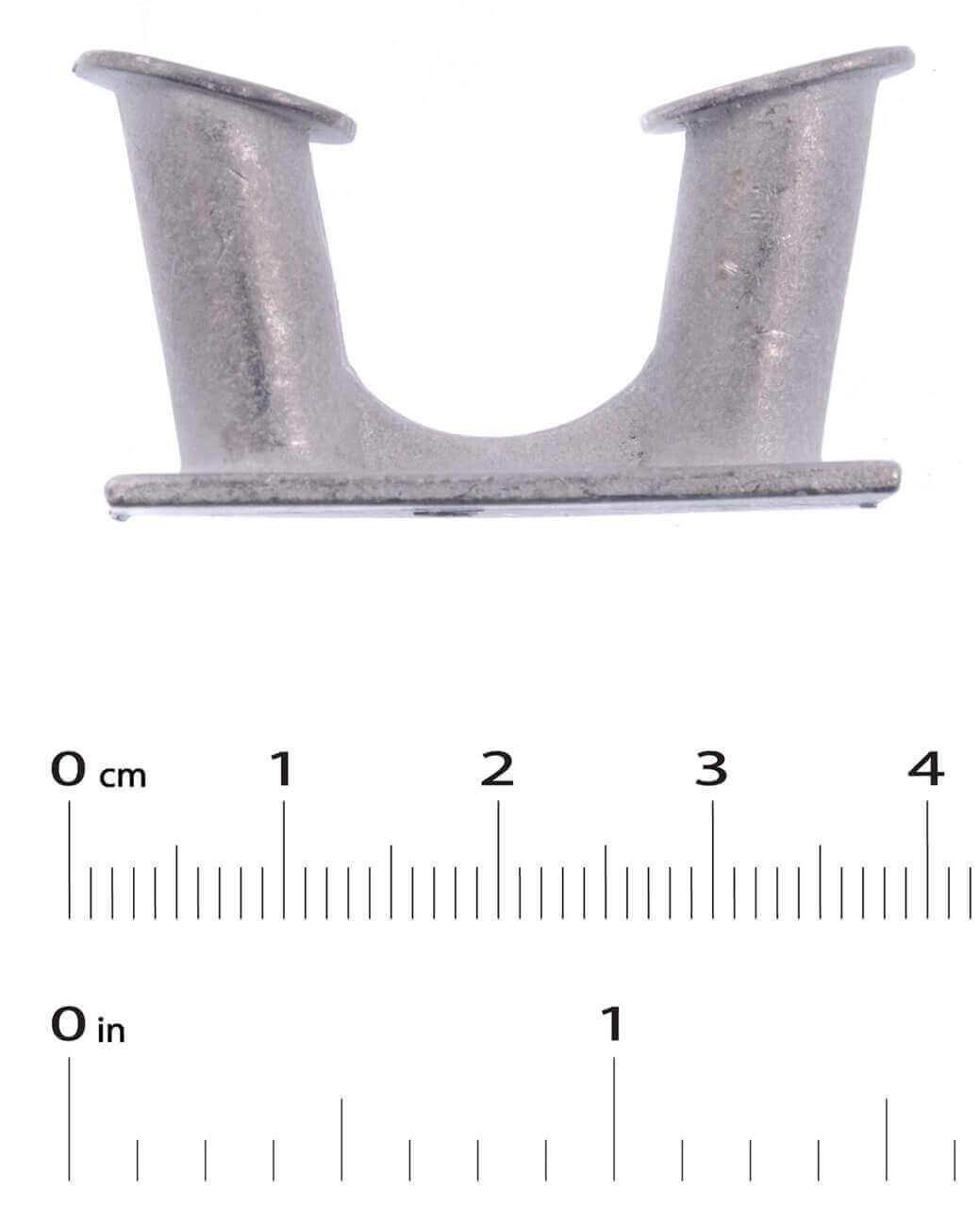 White Metal Angled Bollard