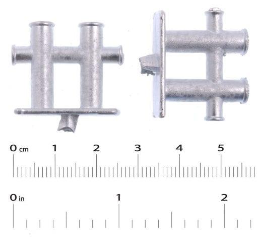 White Metal Cross Bollard