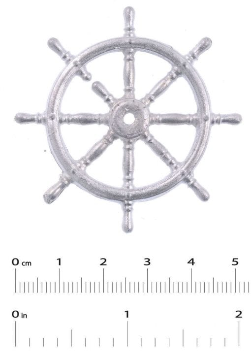 White Metal Ship's Wheel