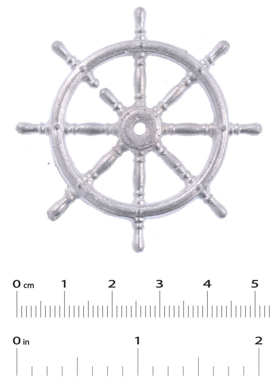 White Metal Ship's Wheel