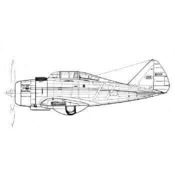 Seversky SEV-S2 (P35) Line Drawing 3088