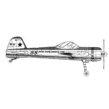 Yak 55 Line Drawing 3087