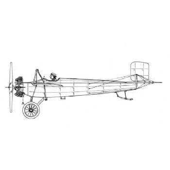 Caudron 1911 Racing Line Drawing 3080
