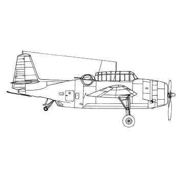 Avenger Line Drawing 3076
