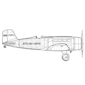 Northrop Alpha Line Drawing 3071