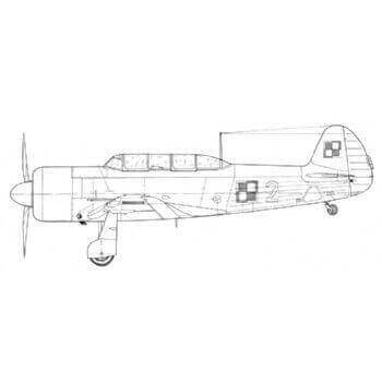 Yak 11 Line Drawing 3052