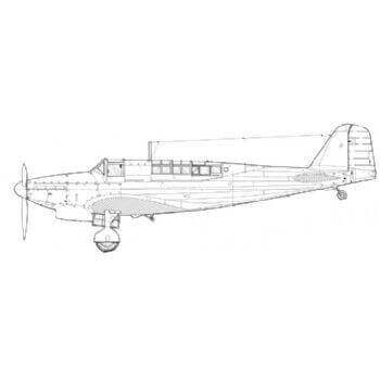 Fairey Fulmar Line Drawing 3047
