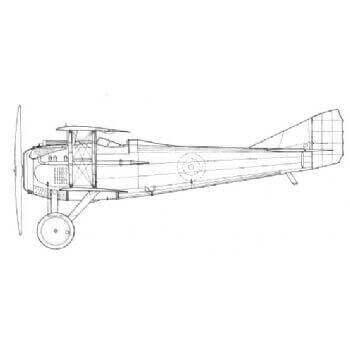 Spad VII Line Drawing 3044