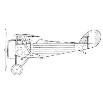 Nieuport 24, 24bis And 27 Line Drawing 3040