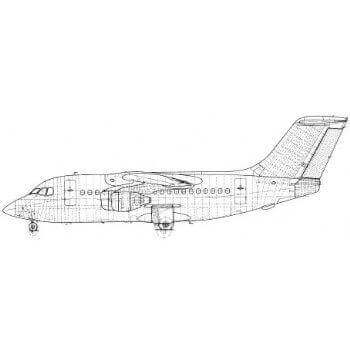 BAE 146 Line Drawing 3037