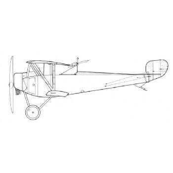 Nieuport 12 Line Drawing 3035