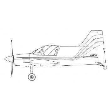 Bede BD-8 Line Drawing 3034