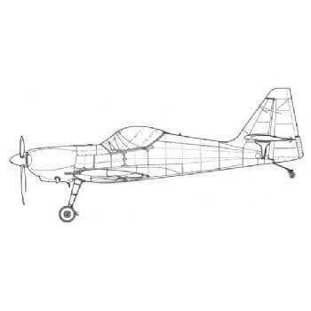 Zlin 50 Line Drawing 3030