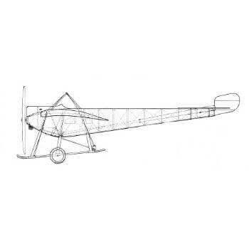 Nieuport Monoplane Line Drawing 3028
