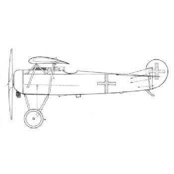 Fokker DVIII Line Drawing 3027