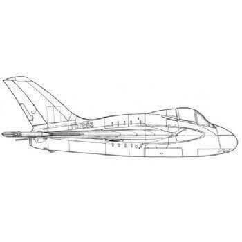 De Havilland 108 Swallow Line Drawing 3024
