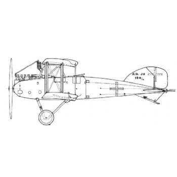 Albatros JII Line Drawing 3020