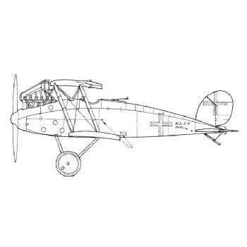 Albatros CXV zz Line Drawing 3018