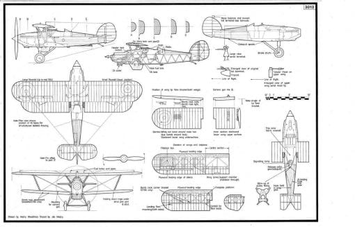 Hawker Nimrod Line Drawing 3013