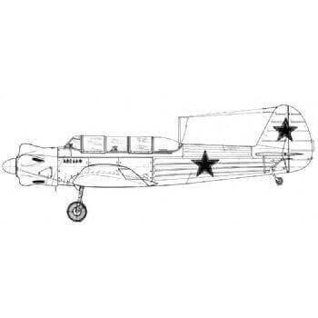 Yak 18 Line Drawing 3008