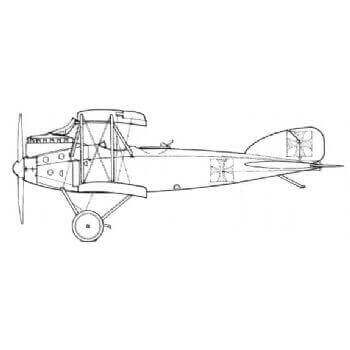 Albatros CV II Line Drawing 3007