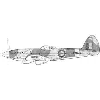 Spitfire 20 & 22 Line Drawing 3006