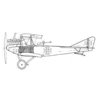 Albatross C1 Line Drawing 2997