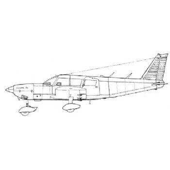 PA32 Cherokee Line Drawing 2976