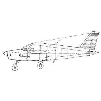 PA28 Cherokee Line Drawing 2974
