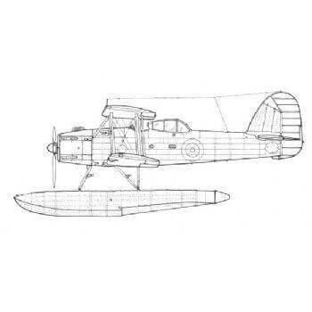 Fairey Seafox Line Drawing 2971