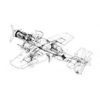 Dornier DO 335 Line Drawing 2969