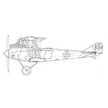 Rumpler CIV Line Drawing 2963