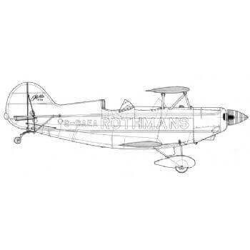 Pitts Special Line Drawing 2962
