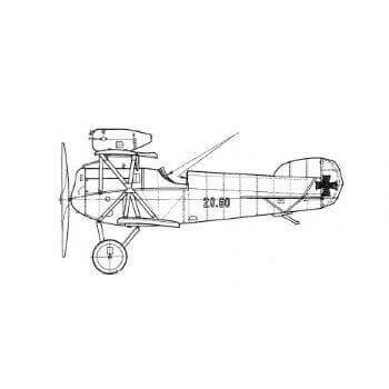 Hansa Brandenburg D.1 Line Drawing 2961