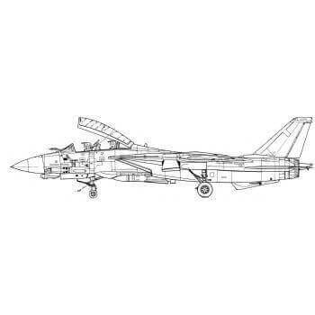 F-14 Tomcat Line Drawing 2955